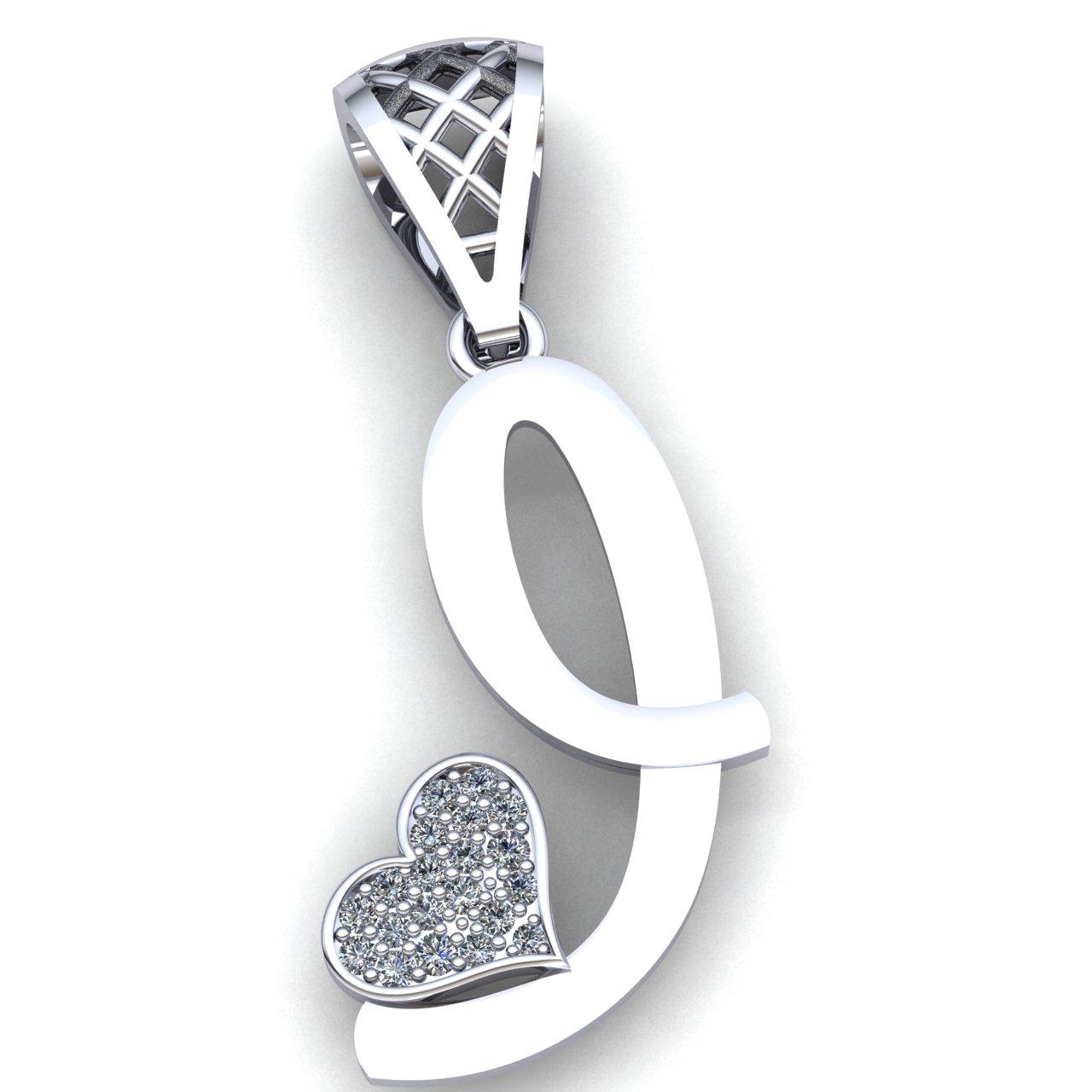 0.1ctw Genuine Round Cut Diamond Ladies Initial Alphabet /'A/' Pendant 10K Gold