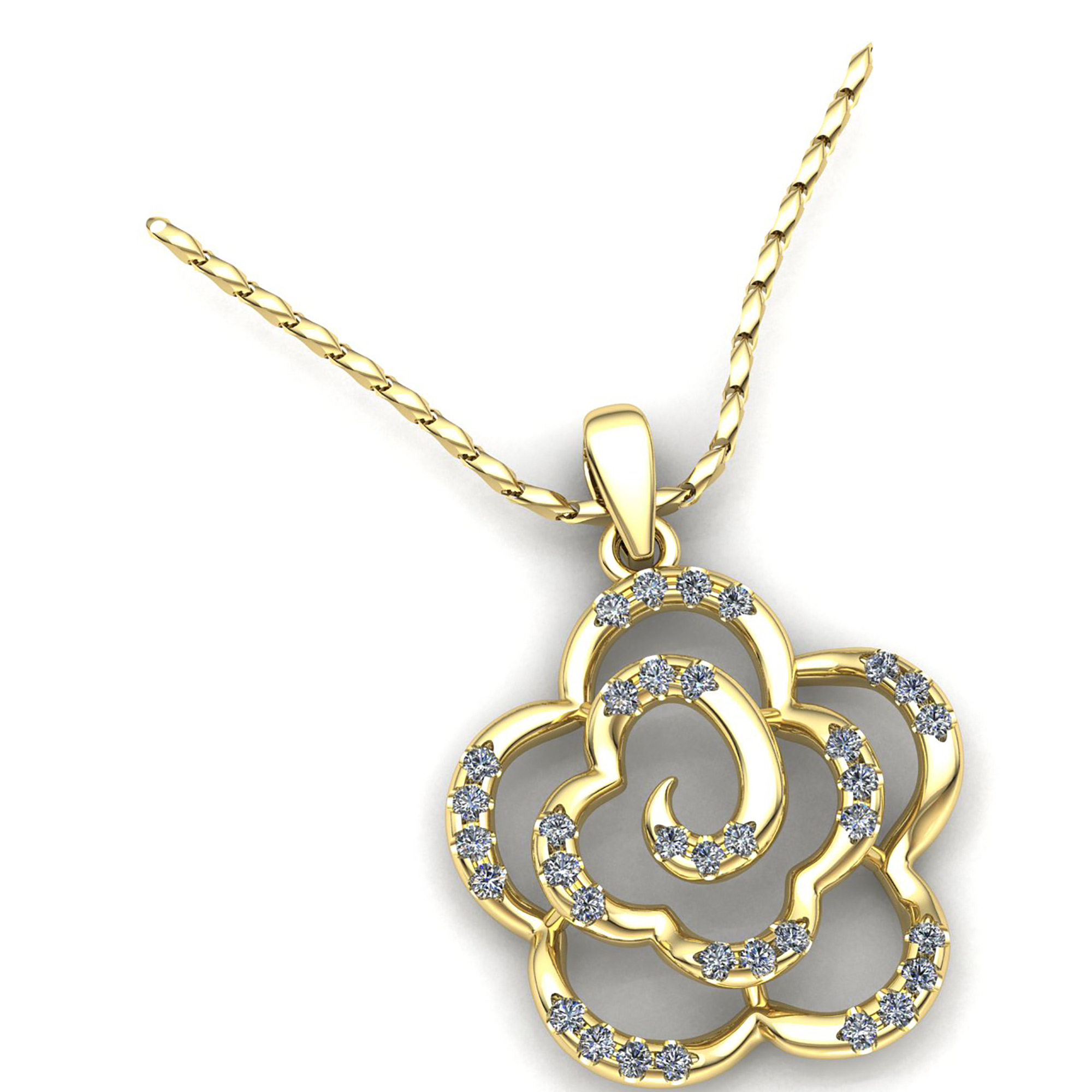 usa amies chain long pendant deux flower products jeweled img gold