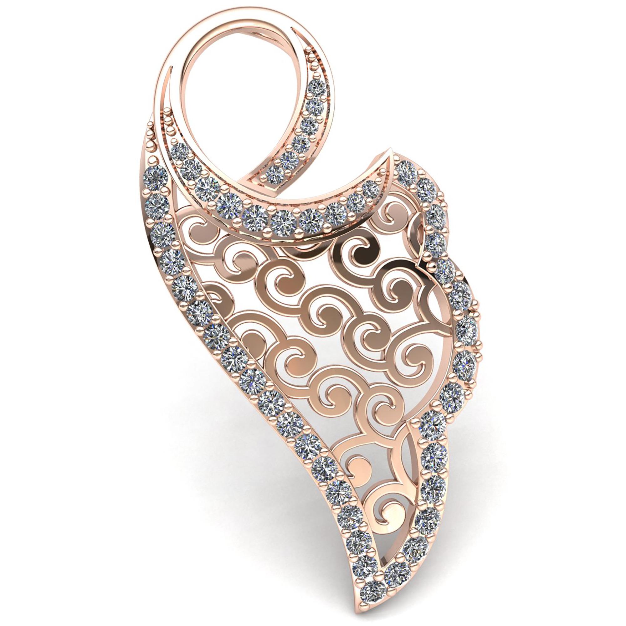 Natural 2ct Round Cut Diamond Ladies Designer Pendant 18K gold