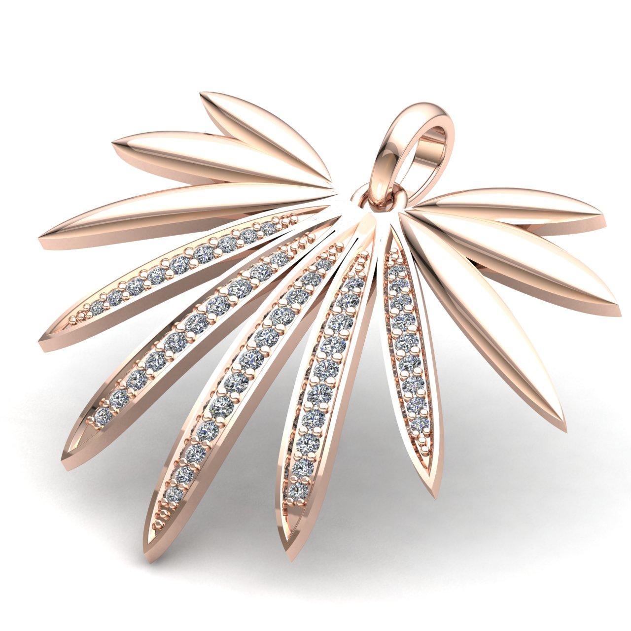 0-75carat-Round-Cut-Diamond-Ladies-Anniversary-Gift-Modern-Pendant-14K-Gold thumbnail 7