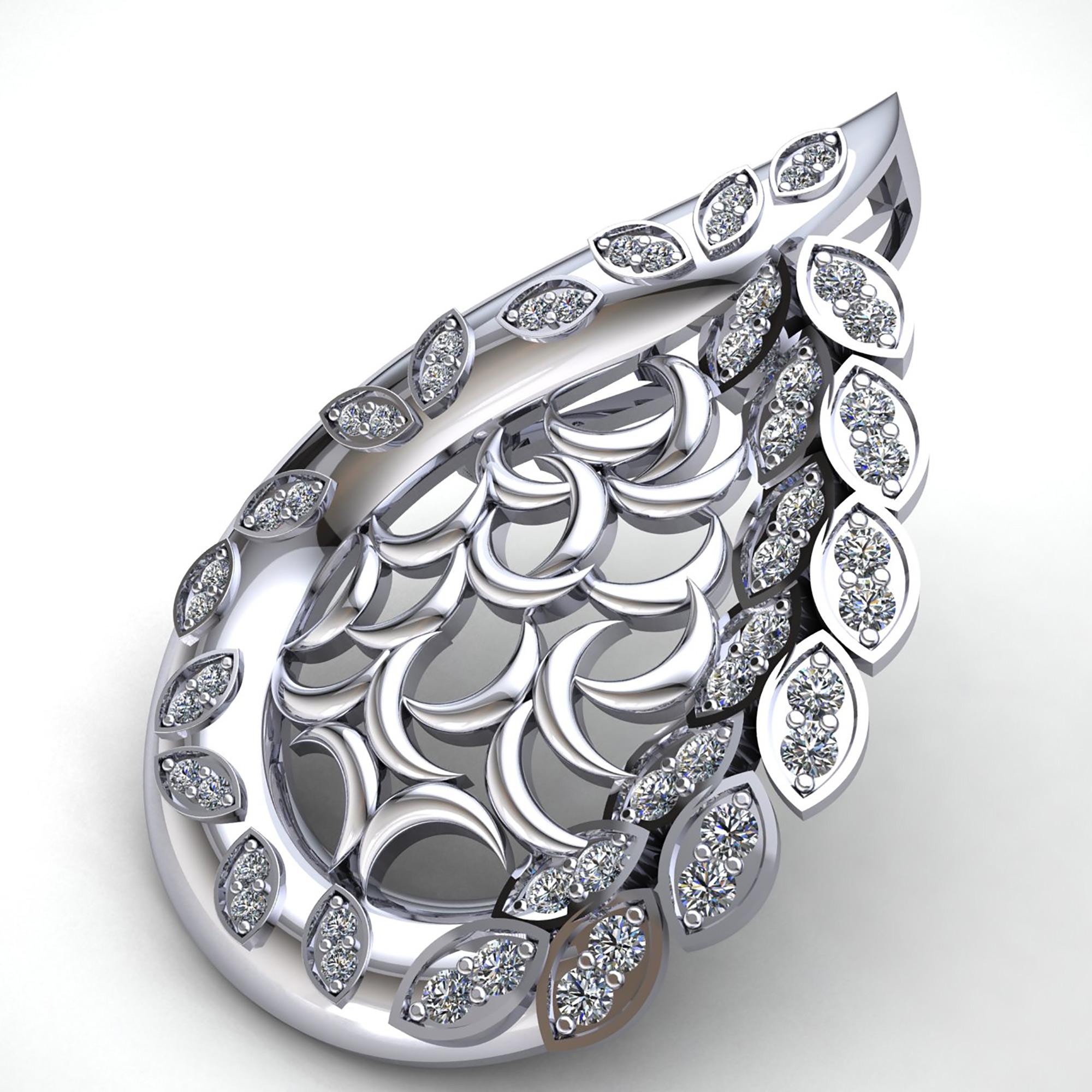 0-75carat-Round-Cut-Diamond-Ladies-Fashion-Pendant-14K-Gold thumbnail 10