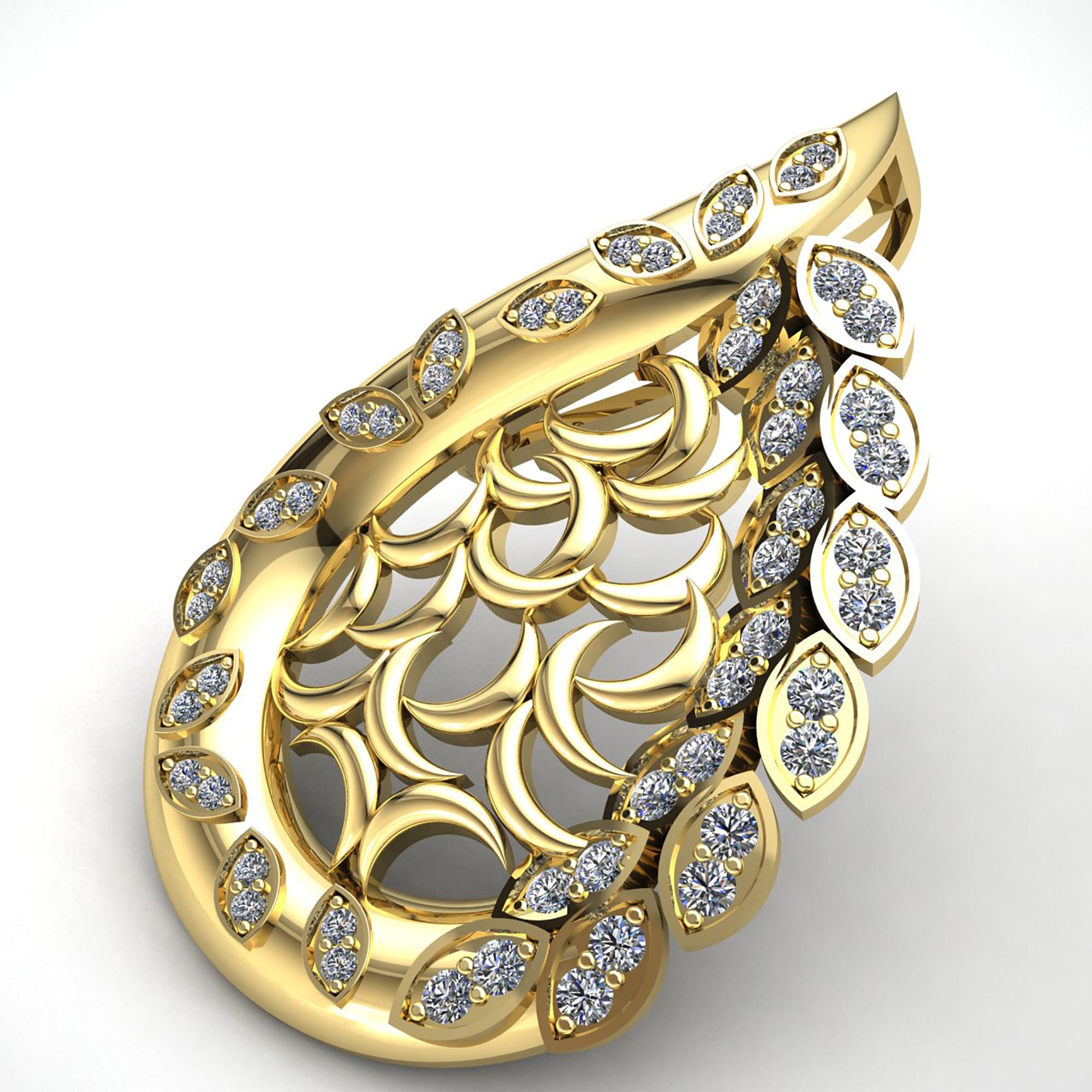 0-75carat-Round-Cut-Diamond-Ladies-Fashion-Pendant-14K-Gold thumbnail 13