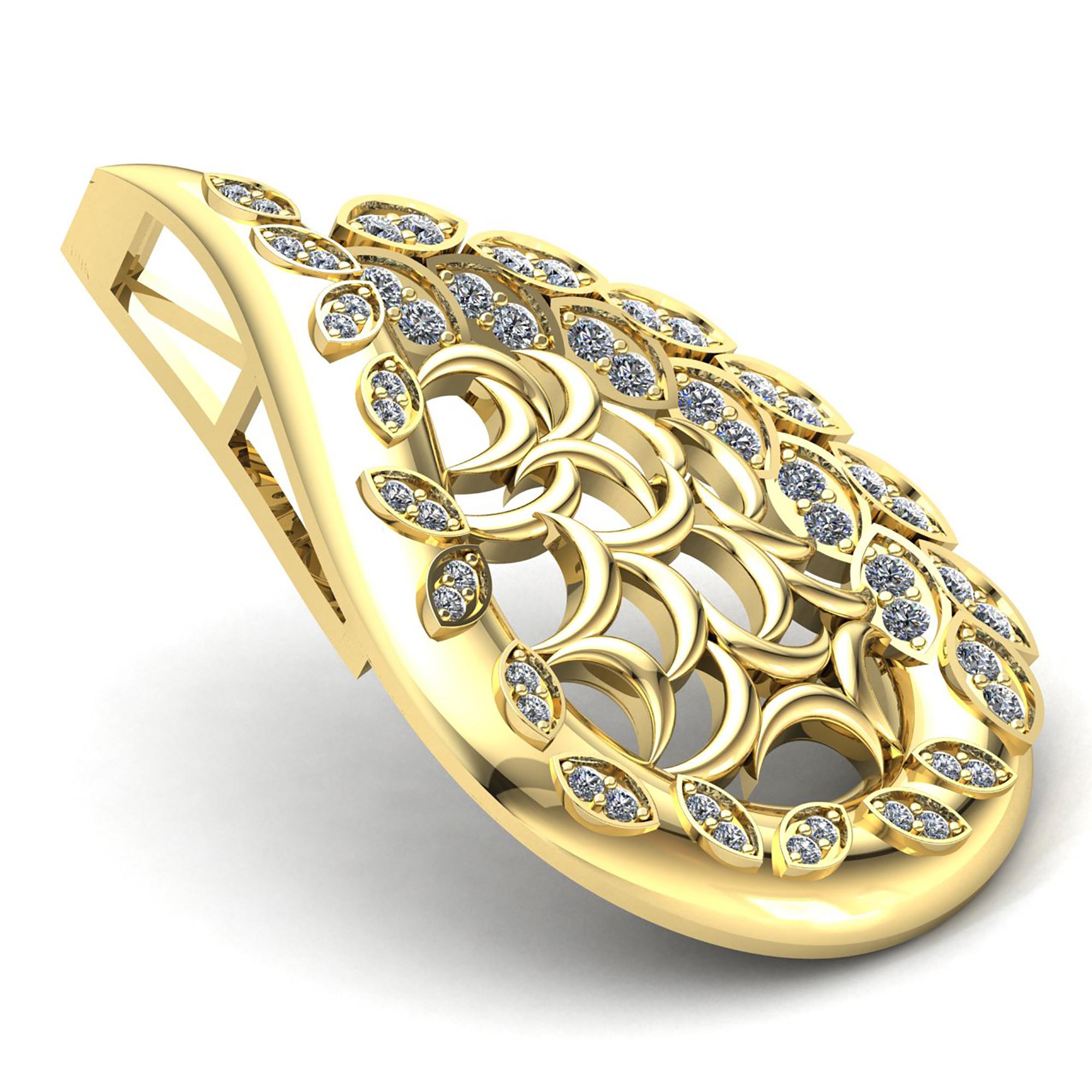 0-75carat-Round-Cut-Diamond-Ladies-Fashion-Pendant-14K-Gold thumbnail 14