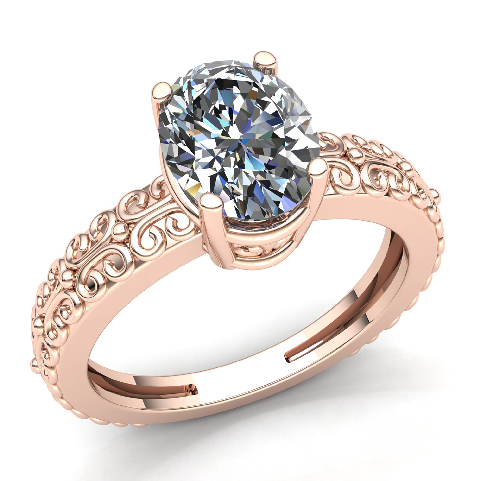 engagement diamond adel rosebud ring chefridi product finished adelchefridi oval rings