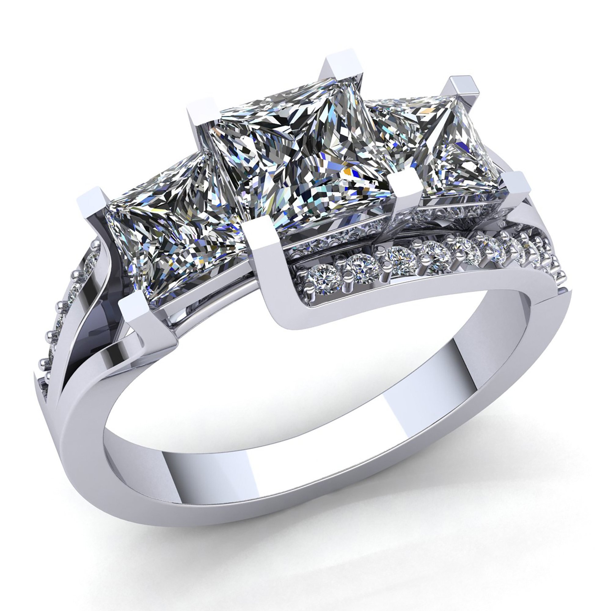 present rings in cut future wedding past w princess collections ring outlet engagement diamond v c t zales