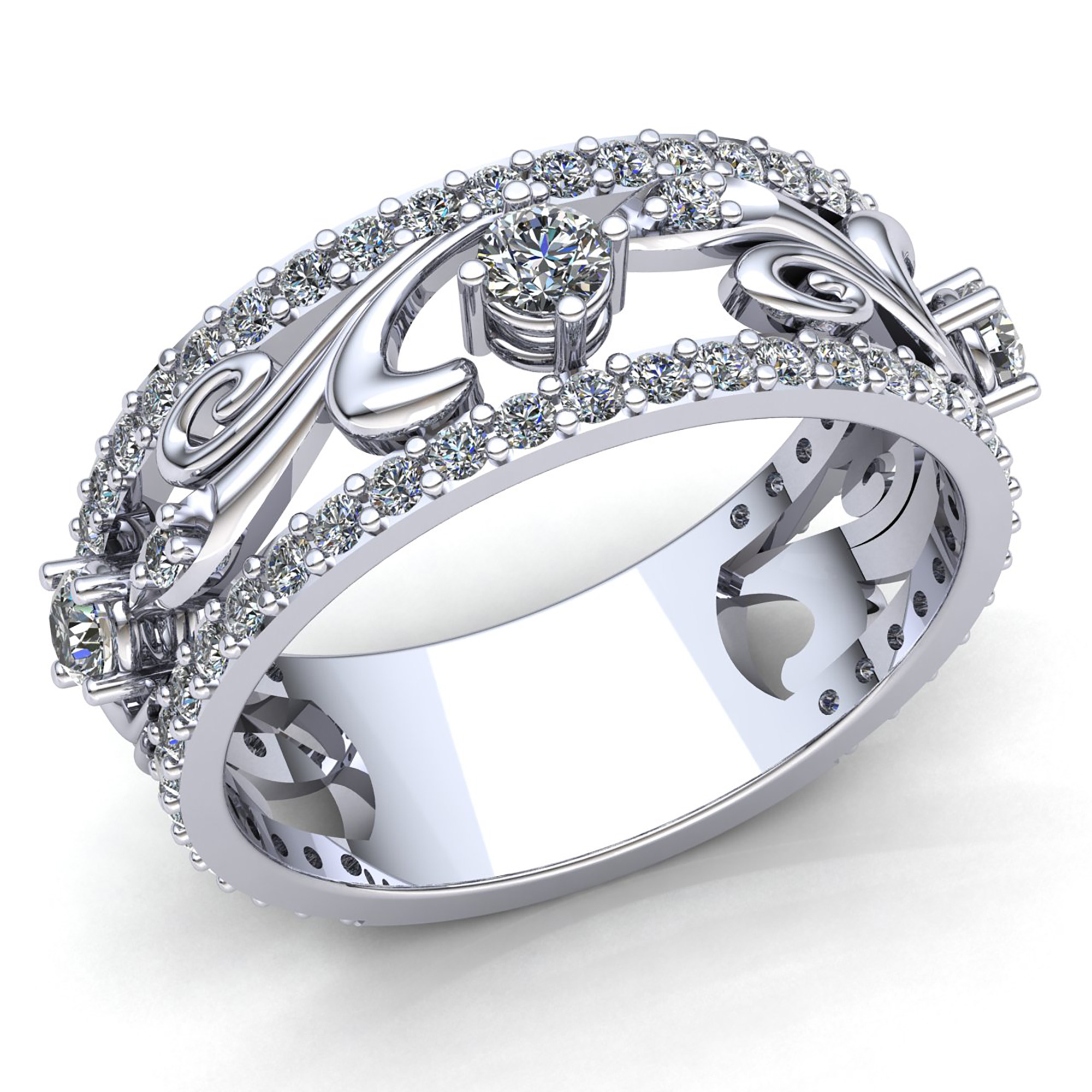 ring design celtic bands platinum pin wedding filigree gents