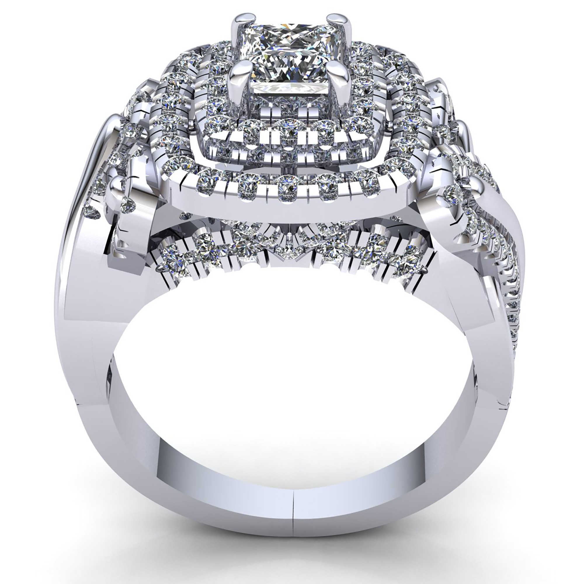 rooftop rings two in ring carat engagement sides gold diamond double products