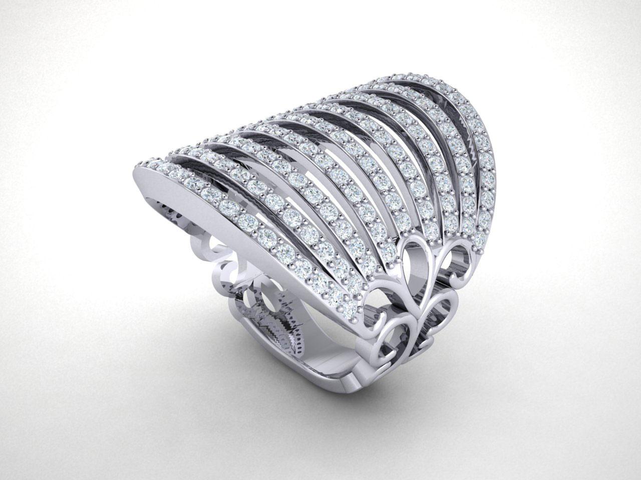 genuine round cut diamond fancy wide multi row. Black Bedroom Furniture Sets. Home Design Ideas