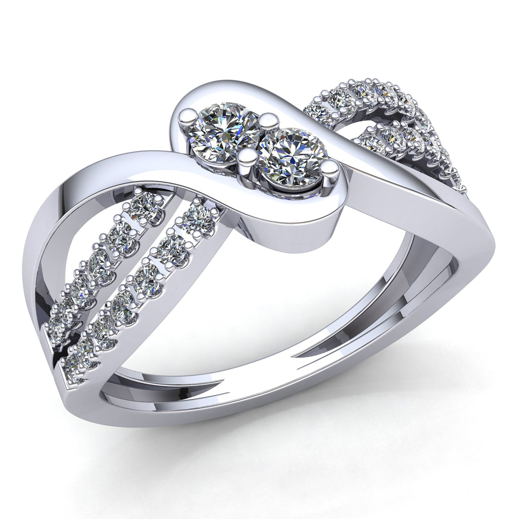ring products diamond rings deals top collections cluster set gold jewelry channel stone wedding ct engagement