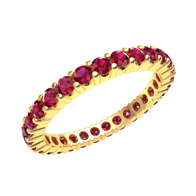 Natuerliche-Rubin-Ewigkeit-Ehering-Jubilaeum-Ring-AAAA-14k-Gold-1-50ctw Indexbild 5