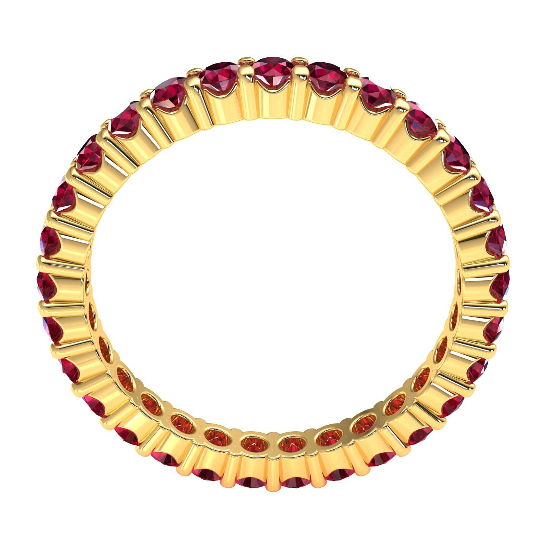 Natuerliche-Rubin-Ewigkeit-Ehering-Jubilaeum-Ring-AAAA-14k-Gold-1-50ctw Indexbild 15