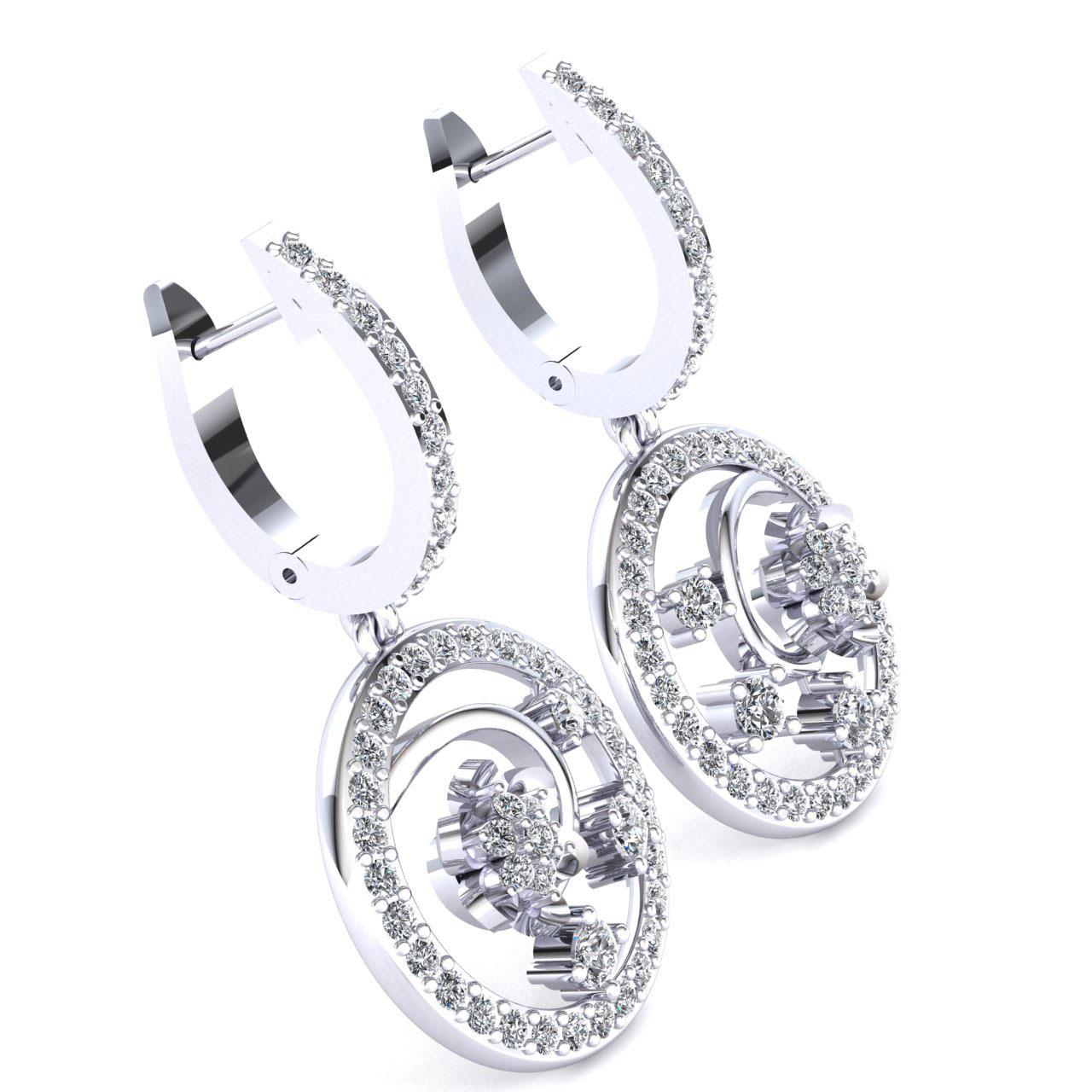 Genuine-1-15carat-Round-Cut-Diamond-Ladies-Flower-Circles-Earrings-14K-Gold thumbnail 11