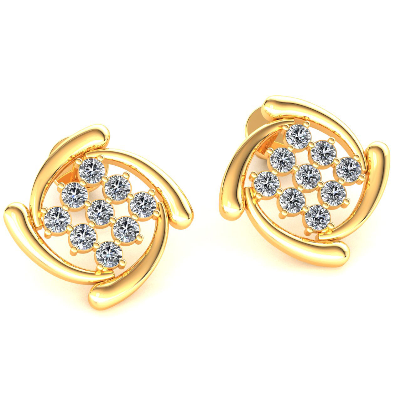 Details About Genuine 0 6ct Round Cut Diamond Las Daily Wear Earrings Solid 18k Gold