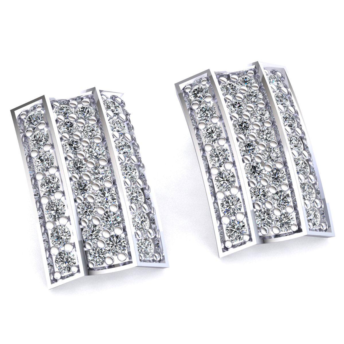 Rectangle Earrings Gold Bar Earrings Long by leebonkboutique