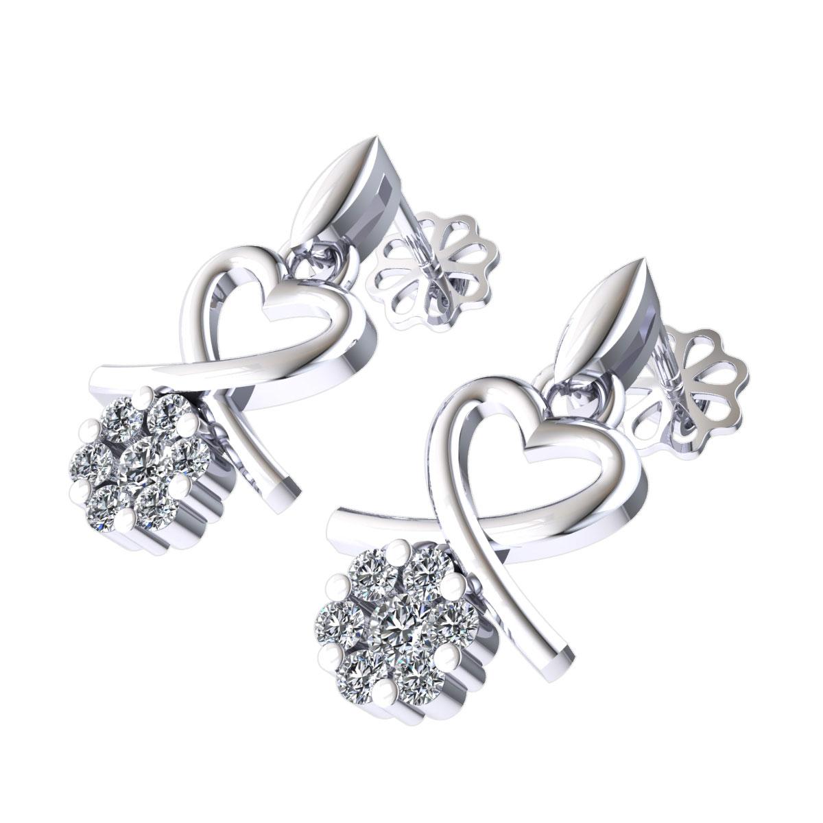 9640ad1af566 0-15ctw-Redondo-Brillante-Corte-Diamante-Mujer-Lazo-